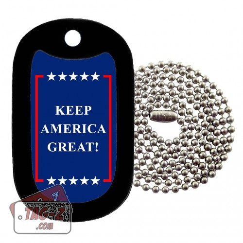 Keep America Great Logo Dog Tag Necklace