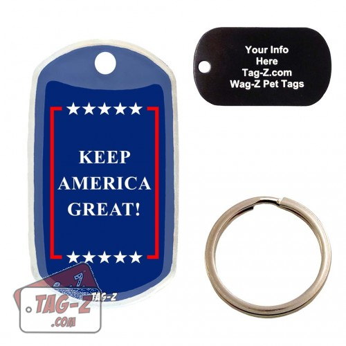 Keep America Great Custom ENGRAVED Pet Tag Tag-Z