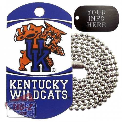 Kentucky Wildcats NCAA Military Dog Tag Necklace
