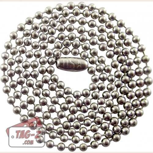 Tag-Z Ball Chain necklaces Stainless Steel