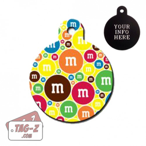 Tag-Z Wag-Z M&M Candy Pet Tag