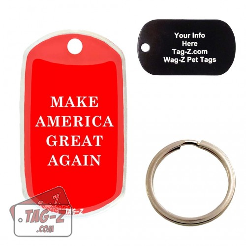 Make America Great Again Custom ENGRAVED Pet Tag Tag-Z