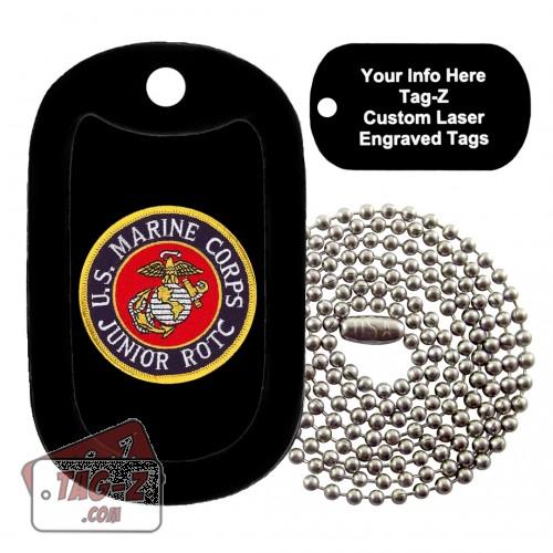 Marine Corps JROTC Patch Custom ENGRAVED Necklace Tag-Z
