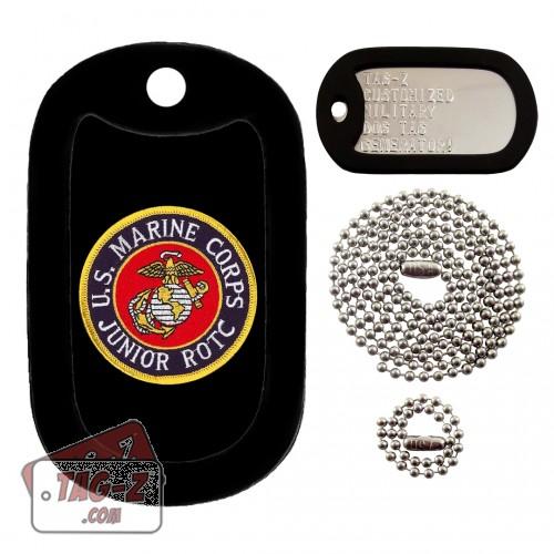 Marine Corps JROTC Patch Dog Tag Full Set Tag-Z