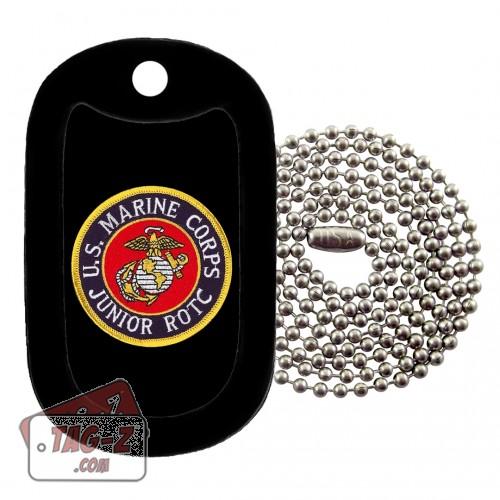 Marine Corps JROTC Patch Dog Tag Necklace