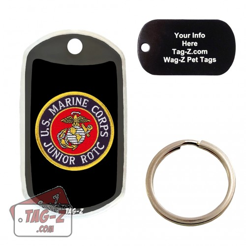 Marine Corps JROTC Patch Custom ENGRAVED Pet Tag Tag-Z