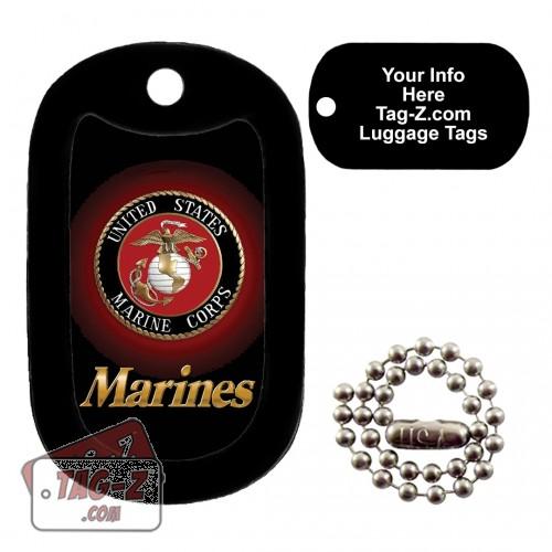 Marines logo - USMC LUGGAGE TAG Tag-Z