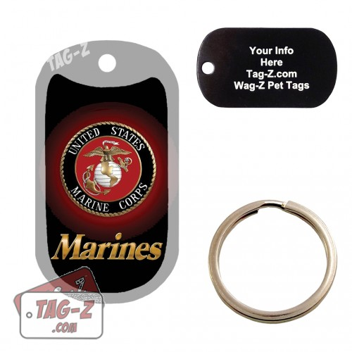 Marines Logo - USMC Custom ENGRAVED Pet Tag Tag-Z