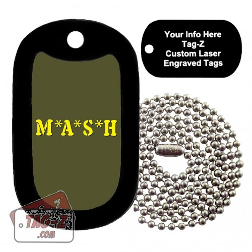 MASH Custom ENGRAVED Necklace Tag-Z