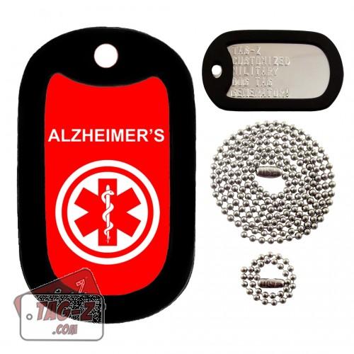 MEDICAL ALERT ALZHEIMERS Dog Tag Full Set Tag-Z