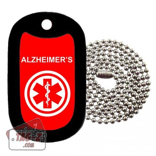MEDICAL ALERT ALZHEIMERS Dog Tag Necklace