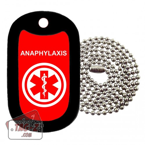 MEDICAL ALERT - ANAPHYLAXIS Dog Tag Necklace
