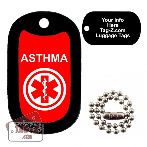 MEDICAL ALERT ASTHMA LUGGAGE TAG Tag-Z