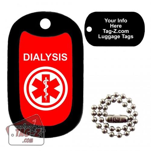 Medical Alert - Dialysis LUGGAGE TAG Tag-Z