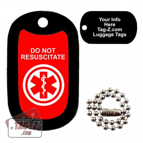 Medical Alert - Do Not Resuscitate LUGGAGE TAG Tag-Z