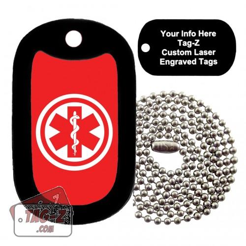 Medical Alert Symbol Custom ENGRAVED Necklace Tag-Z