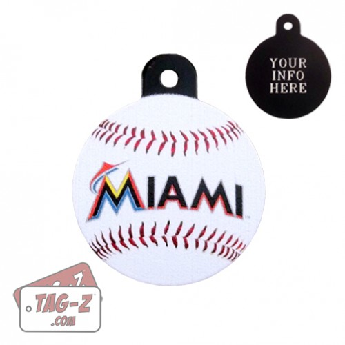 Miami Marlins MLB Pet Tag