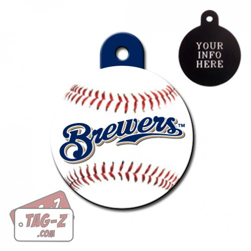 Milwaukee Brewers MLB Pet Tag