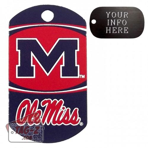 Mississippi Ole Miss NCAA Pet Tag