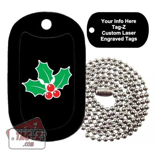 MISTLETOE Custom ENGRAVED Necklace Tag-Z