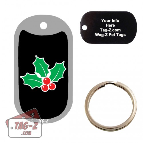 MISTLETOE Custom ENGRAVED Pet Tag Tag-Z