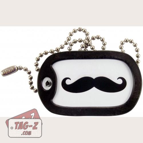 Tag-Z Emergency Moustache Dog Tag Necklace