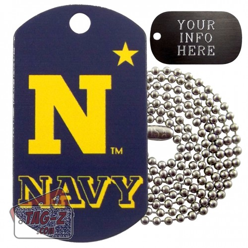 United States Naval Academy Midshipmen NCAA Military Dog Tag Necklace