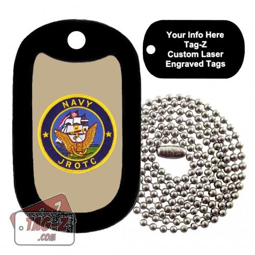 Navy JROTC Patch Custom ENGRAVED Necklace Tag-Z