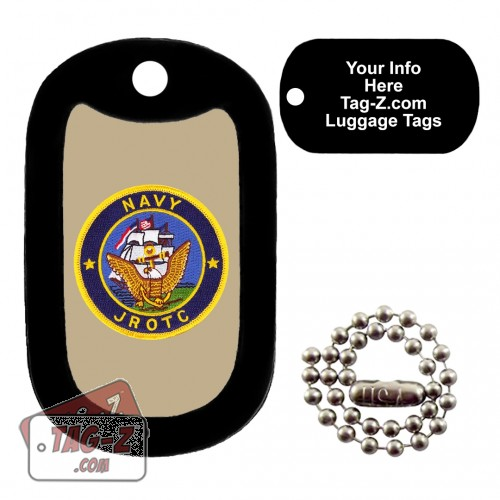 Navy JROTC Patch LUGGAGE TAG Tag-Z