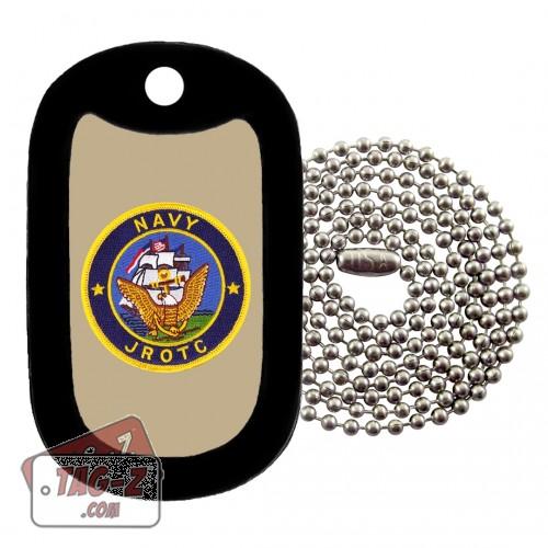 Navy JROTC Patch Dog Tag Necklace