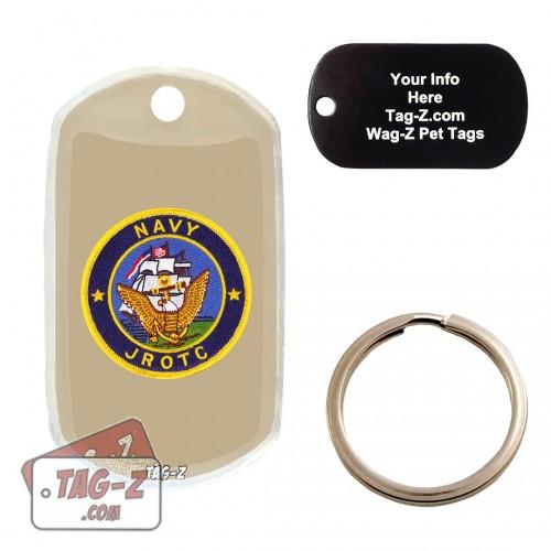 Navy JROTC Patch Custom ENGRAVED Pet Tag Tag-Z