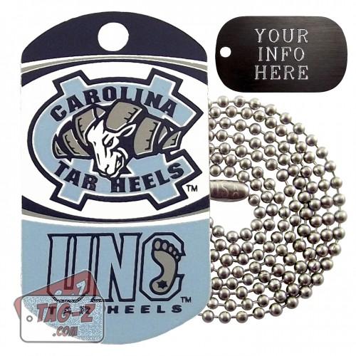 North Carolina Tar Heels NCAA Military Dog Tag Necklace