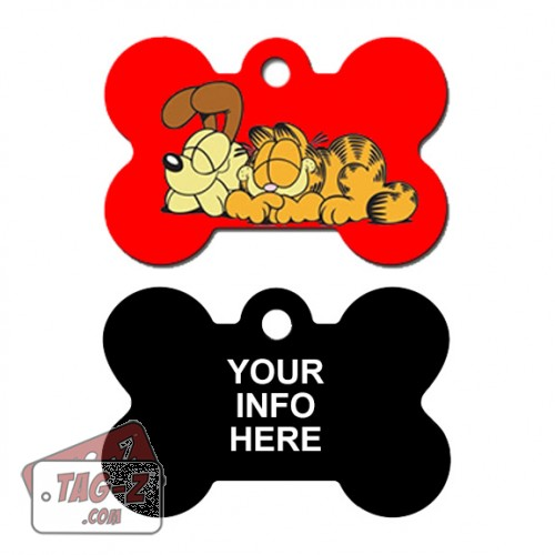Tag-Z Wag-Z Garfiled and Odie Pet Tag