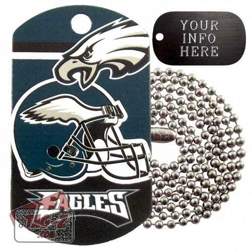 Philadelphia Eagles NFL Military Dog Tag Necklace