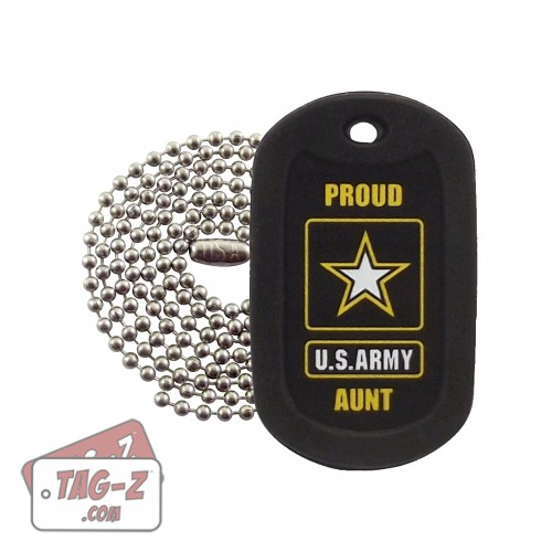 Tag-Z Proud U.S. Army Aunt Dog Tag Necklace