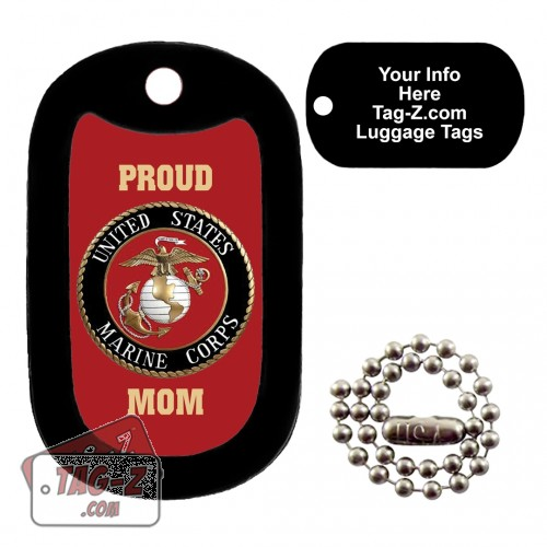 PROUD USMC MOM RED LUGGAGE TAG Tag-Z