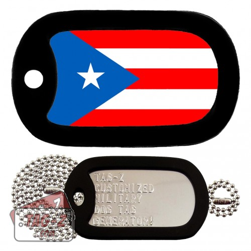 PUERTO RICO FLAG Dog Tag Full Set Tag-Z
