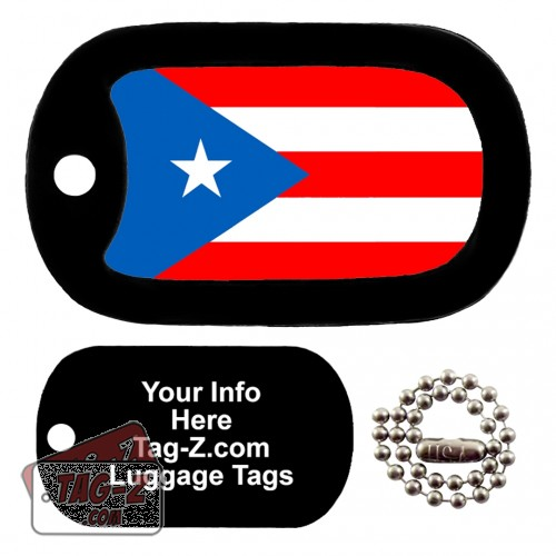 PUERTO RICO FLAG LUGGAGE TAG Tag-Z