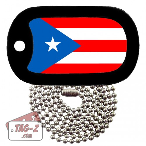 PUERTO RICO FLAG Dog Tag Necklace