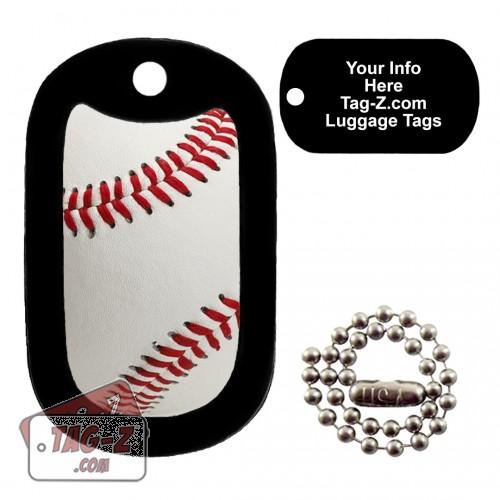 Real Baseball LUGGAGE TAG Tag-Z