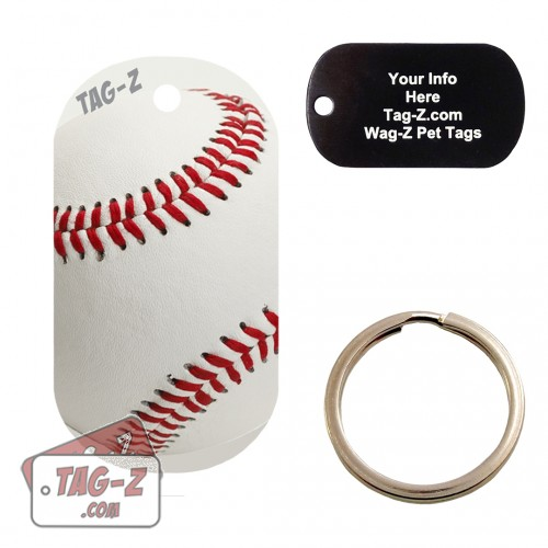 Real Baseball Custom ENGRAVED Pet Tag Tag-Z