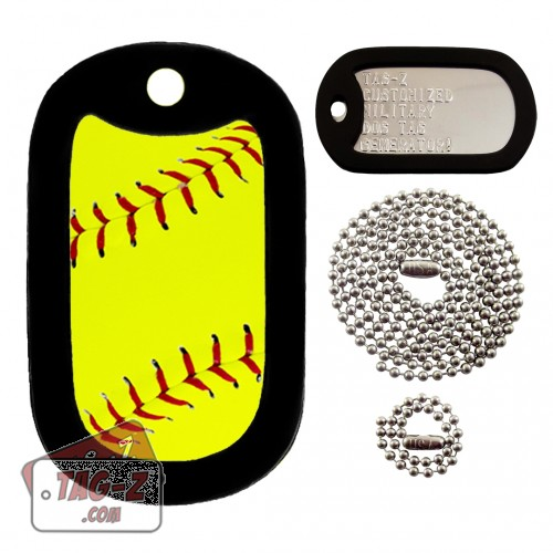 Softball Dog Tag Full Set Tag-Z