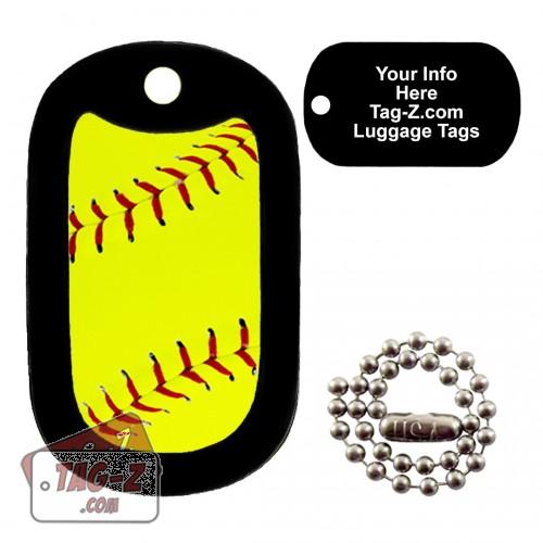 Softball LUGGAGE TAG Tag-Z