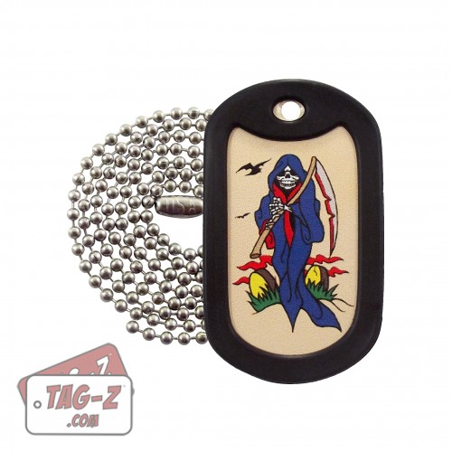 Tag-Z Grim Reaper Tagtoo-Z Dog Tag Necklace