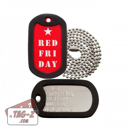 RED Friday Dog Tag Set