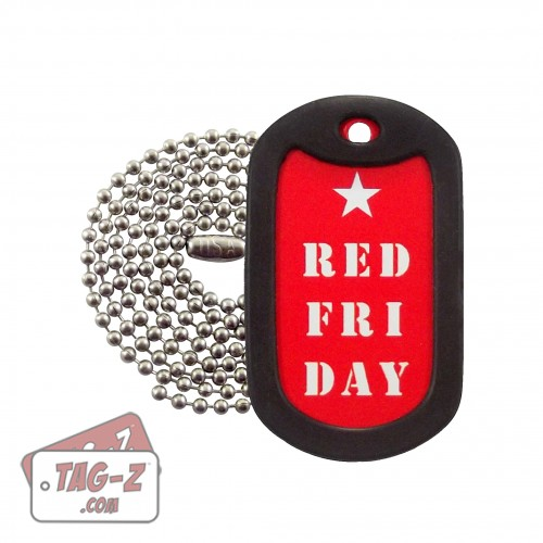 RED Friday Dog Tag Necklace