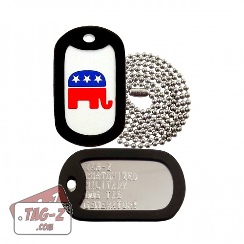 Tag-Z Republican Party Elephant Dog Tag Set