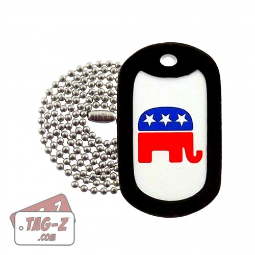 Tag-Z Republican Party Elephant Dog Tag Necklace