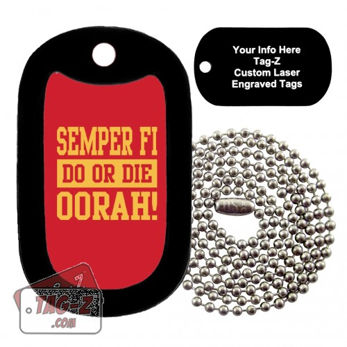 Semper Fi - Do or Die Custom ENGRAVED Necklace Tag-Z