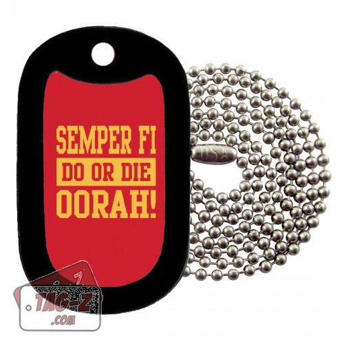 Semper Fi Do Or Die Dog Tag Necklace Tag-Z
